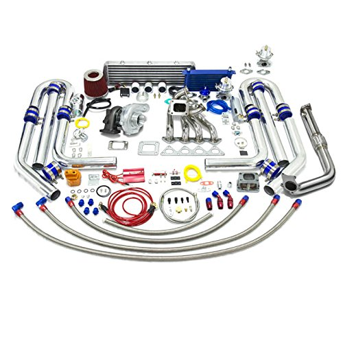 High Performance Upgrade T04E T3 23pc Turbo Kit - Honda B-Series Dual Wastegate