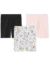 Spotted Zebra Amazon Brand Girls '3-Pack Bike Shorts