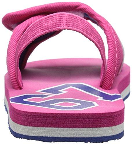 Polo Ralph Lauren Kids Ferrysldeiii ATPK CRD N/ATPK Fashion Slide Sandal (Toddler/Little Kid/Big Kid), Active Pink, 7 M US Toddler