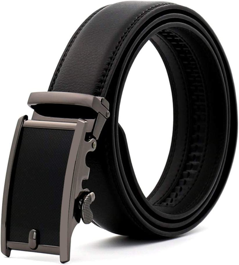 DENGDAI Mens Belt Automatic Buckle Belt Leisure Youth Belt Length 100-135cm