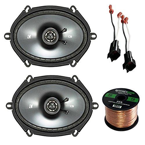 450 Watt Four Way Speakers (Car Speaker Set Combo Of 2 Kicker 40CS684 6x8