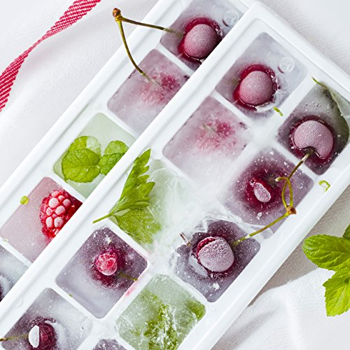 OMorc Ice Cube Trays 4 Pack, Easy-Release Silicone and Flexible 14-Ice Trays with Spill-Resistant Removable Lid, LFGB Certified and BPA Free, Stackable Durable and Dishwasher Safe by OMORC (Image #5)