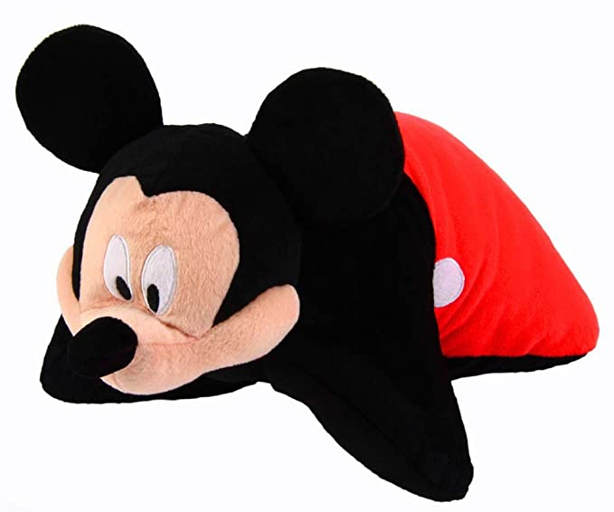 Amazon.com: Disney Mickey 2-en-1 cojín de peluche: Toys & Games
