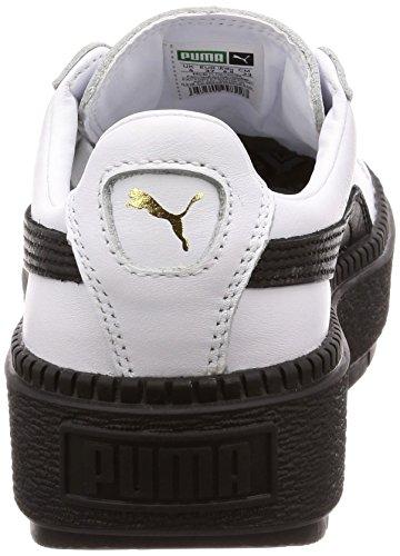 Donna Sneakers Pelle Platform Basket Wmns Puma Bianco Trace qz6Pqd