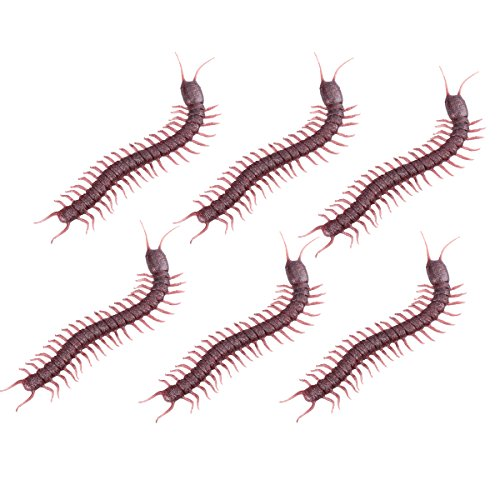 LUOEM Halloween Simulation Centipedes Tricky Centipede Props for Halloween Haunted House Pack of 6