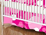 SheetWorld - Crib Skirt (28 x 52) - Hot Pink Floating Bubbles - Made In USA