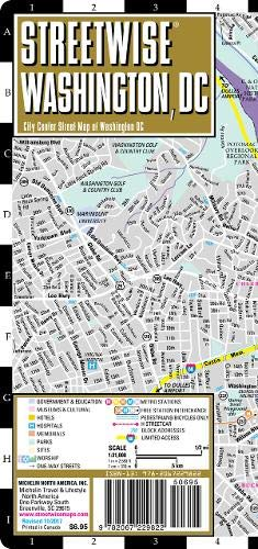Streetwise Washington DC Map - Laminated City Center Street Map of Washington, DC (Michelin Streetwise ()