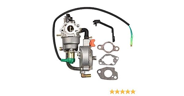 Dual Fuel LPG Carburetor For Champion 100231 100320 Generators 389cc Motor Parts