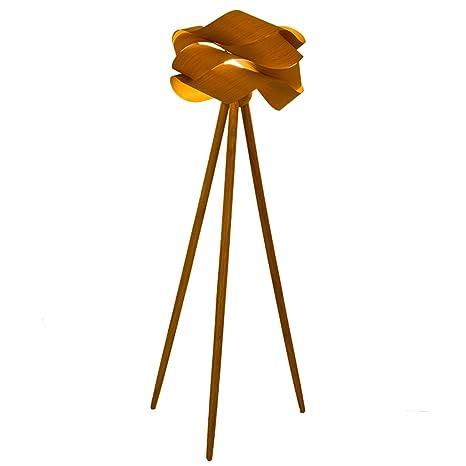 Lámparas de pie Lámpara De Pie De Madera Sólida Moderna Y Creativa ...