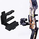 e5e10 Archery CNC Bow Sight Scope Picatinny Bracket Mount for Hunting Red Dot Laser Sight Reflex Sight Fits Compund Bow Recurve Bow