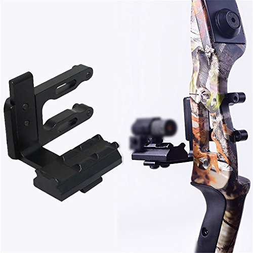 e5e10 Archery CNC Bow Sight Scope Picatinny Bracket Mount for Hunting Red Dot Sight Reflex Sight Fits Compound Bow Recurve - Screw Bow