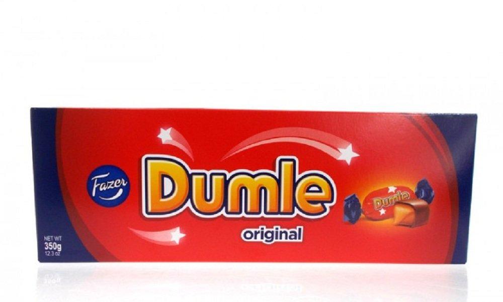 6 Boxes x 350g of Fazer Dumle Original - Finnish - Milk Chocolate with Soft Toffee - Candies - Pralines