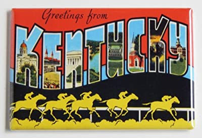 Greetings From Kentucky Fridge Magnet (2 x 3 inches) (Kentucky Derby)