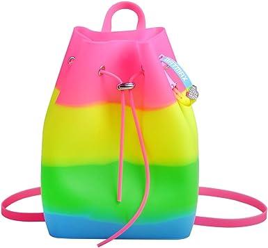 Waterproof Drawstring Gym Bucket Bag Swimming Traveling Kids Sport Backpack