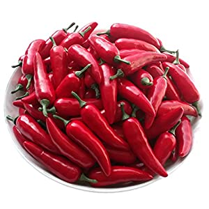 Gresorth 30pcs MINI Artificial Chinese Red Pepper Fake Chili Vegetable Home Kitchen Food Toy Decoration 9