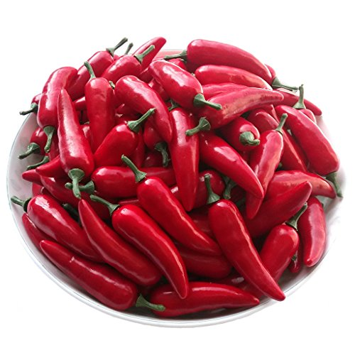 Gresorth 30pcs Artificial Lifelike Simulation Chinese Red Pepper Fake Hot Chili Vegetable Home Kitchen Decor (Fake Chili Peppers compare prices)