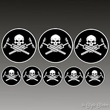 8 Aufkleber Fahrrad Mtb Elektrorad Zubehör Skull Devil