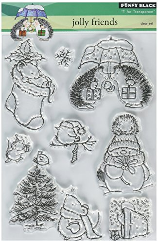 - Penny Black PB30058 Clear Stamp Set, Jolly Friends