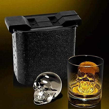 Sdesign Bandeja de Cubitos de Hielo - Bandeja de Hielo de Silicona, Forma esférica Cuadrada Forma de Hielo Cubo de Hielo y máquina de Hielo, moldes de BPA Gratis para Whisky, cócteles y Hornear