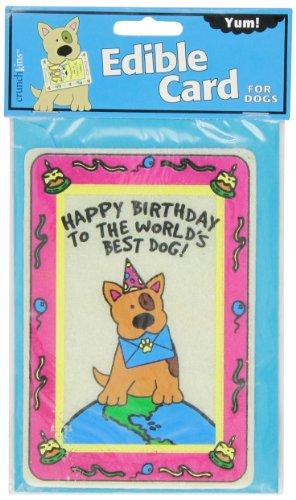 Crunchkins Edible Crunch Card, Birthday, World'S Best - Dog Birthday Card