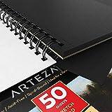 "Arteza Black Sketch Pad, 5.5x8.5"" , Pack of 3, 150"