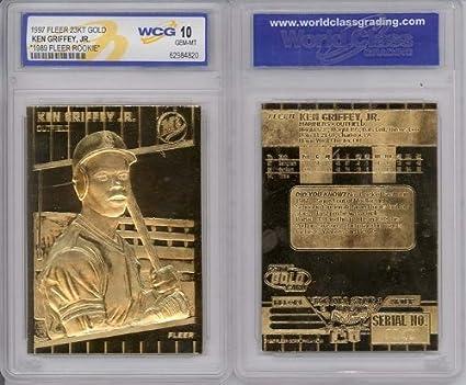 Baseball Cards 1997 Ken Griffey Jr Fleer 23k Gold Rookie Gem Mint 10