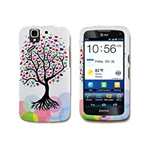 Hard Cover Case with LOVE TREE Design for PANTECH P8010 FLEX ATT With PRY- Triangle Case Removal Tool...