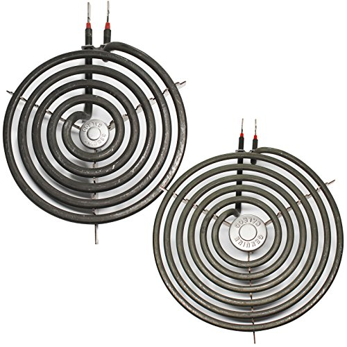 Replacement Burner Element WB30M1 6 inch 5 turns and WB30M2 8 inch 6 turns for General Electric, Kenmore - Compatible with General Electric JP328SK2SS, JP328WK2WW, JXDC41001, J63CK1, JB390GxH1