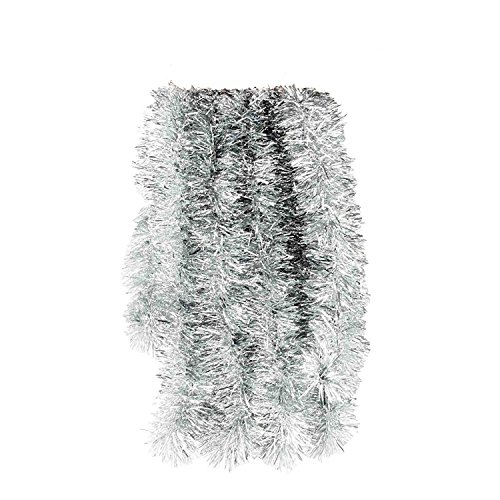 Holiday Tinsel - Elegant Hanging Tinsel Garland 3-Inch x 15-Feet - Choose from 12 Fun Holiday Colors