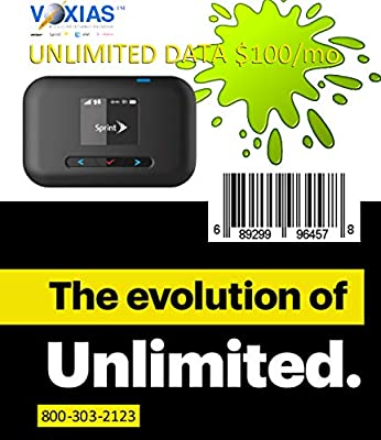 Amazon com: Unlimited Data SIM Sprint & New R910a Hotspot