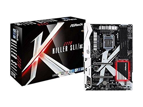 ASRock Z270 KILLER SLI/AC LGA 1151 Intel Z270 HDMI SATA 6Gb/s USB 3.0 ATX Motherboards - Intel (Motherboard Sata Pentium)