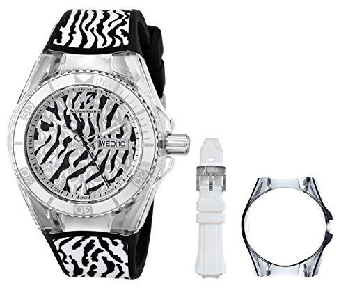 TechnoMarine Women's 114016 Cruise Monogram Jungle Analog Display Quartz White Watch