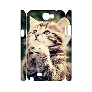 case Of Cute Cat Customized Hard Case For Samsung Galaxy Note 2 N7100 by icecream design