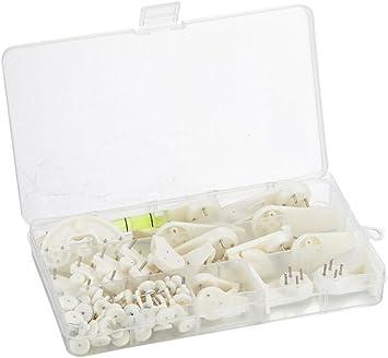 1Box (60pcs) blanco invisible pared imagen gancho marco boda ...