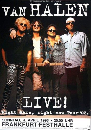 Van Halen - LIVE 1993 - Concert Poster Plakat ()