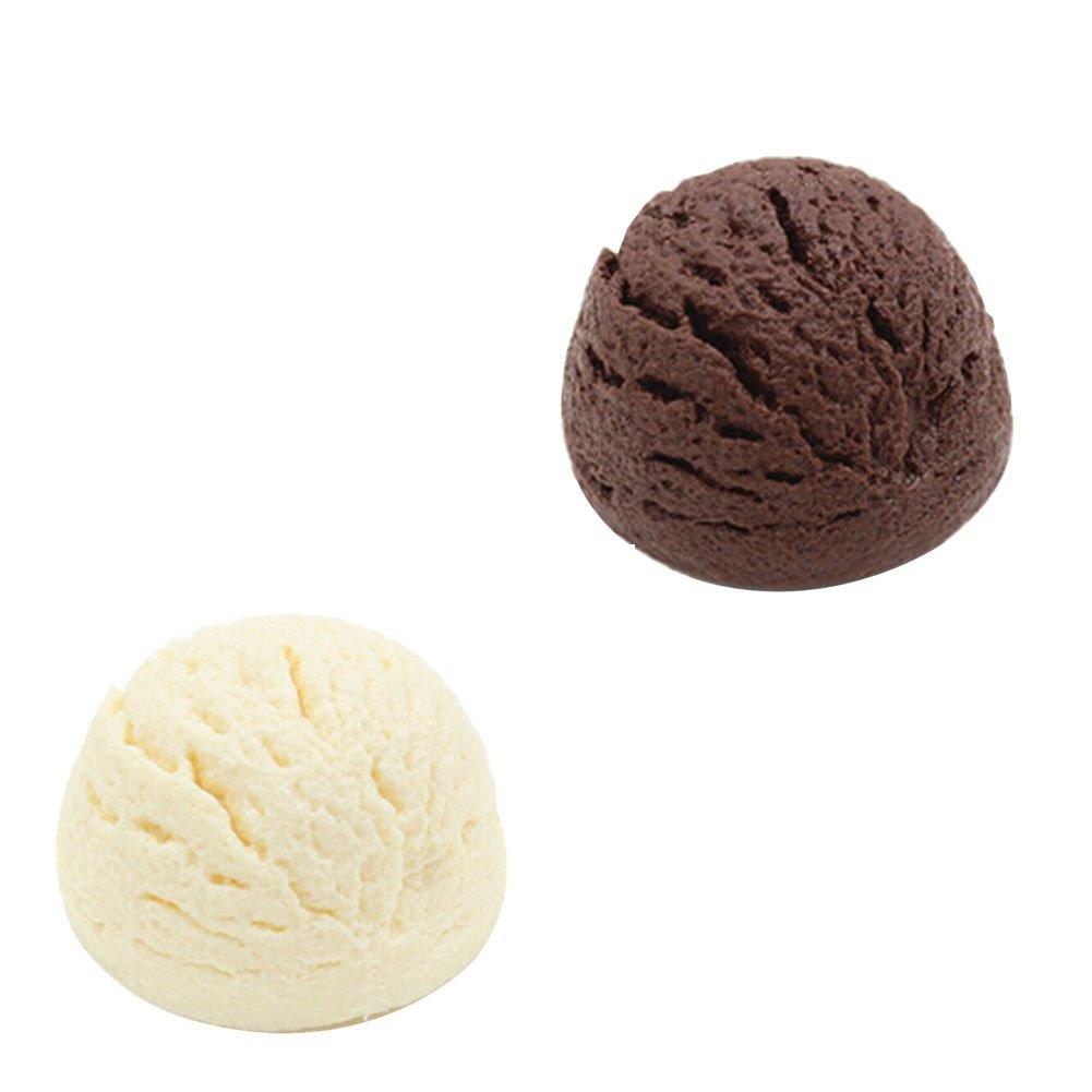 Set of 2 Artificial Lifelike Ice Cream Simulation Fake Food Shops Decor