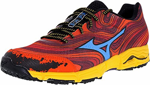 Mizuno Men's Wave Kazan Trail Running Shoe,Chinese Red/Du...