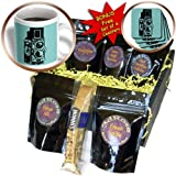 KIKE CALVO vintage camera collection - Picture of a Vintage Twin Lens reflex TLR camera on cyan - Coffee Gift Baskets - Coffee Gift Basket (cgb_20708_1)
