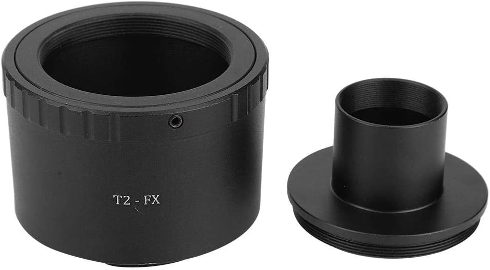 Qiilu Adaptateur de lentille de t/élescope Bague dadaptation en m/étal T2-FX pour t/élescope astronomique /à Monture T de 0,965 Pouce pour Appareil Photo /à Monture Fuji FX