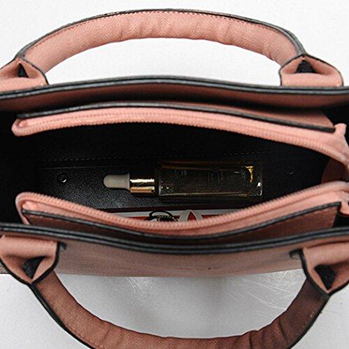 de Bolsos Bolso Bolso Bandolera Grandes Rosado Bolsa de Bolso Tote Shopper Bag Hombro Mujer Mano ✦JiaMeng adxwqrnd01