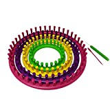 Quilted Bear Round Quick Knit Knitting Loom- Create Scarves, Hats, Booties & Much More