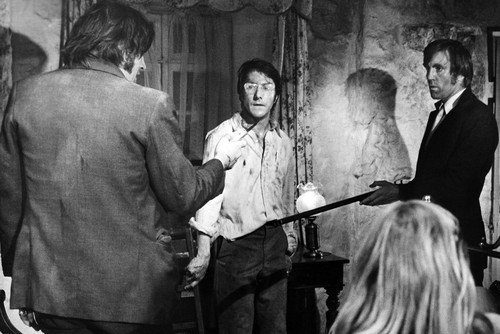 Dustin Hoffman Del Henney Ken Hutchison and Susan George in Straw Dogs 24x36 Announcement