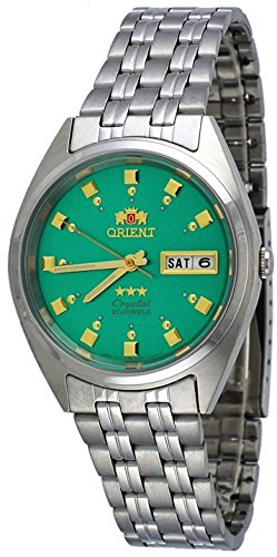 - Orient #FAB00009N Men's 3 Star Stainless Steel Green Dial Self Wind Automatic Watch