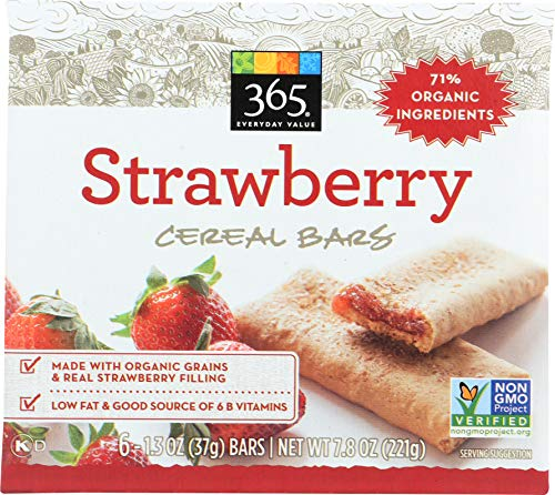 365 Everyday Value, Cereal Bars, Strawberry (6 - 1.3 oz bars), 7.9 oz