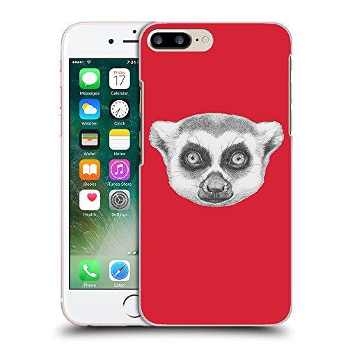 GoGoMobile Coque de Protection TPU Silicone Case pour // Q05390601 Portrait lémurien Alizarine // Apple iPhone 7 PLUS