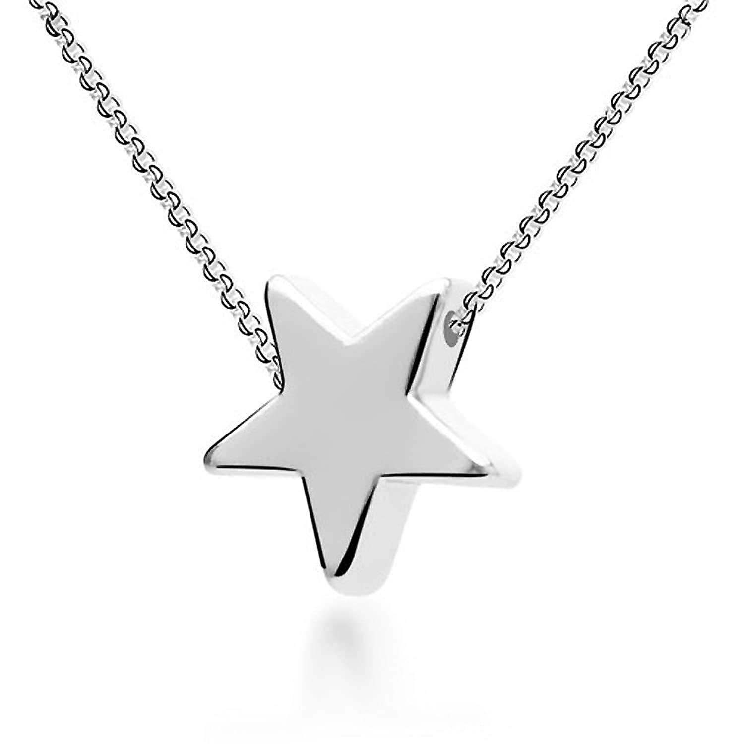 silve jewelry shape present necklaces gifts for dp pendant women color necklace plated silver ixiqi star