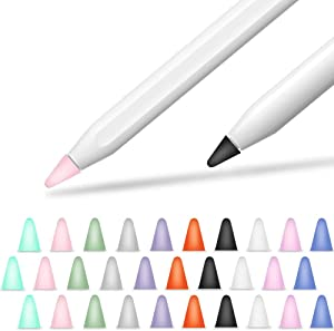 Cover Compatible with Apple Pencil Tips Silicone Nib Cap Accessories for Apple Pencil 1st and 2nd Generation(30 PCS,10 Colors)