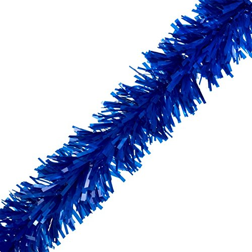 "TCDesignerProducts TCDesignerProducts Dark Blue Vinyl Twist Garland - 4"" x 25' roll price tips cheap"