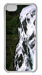 Customized iphone 5C PC Transparent Case - Waterfall 16 Personalized Cover