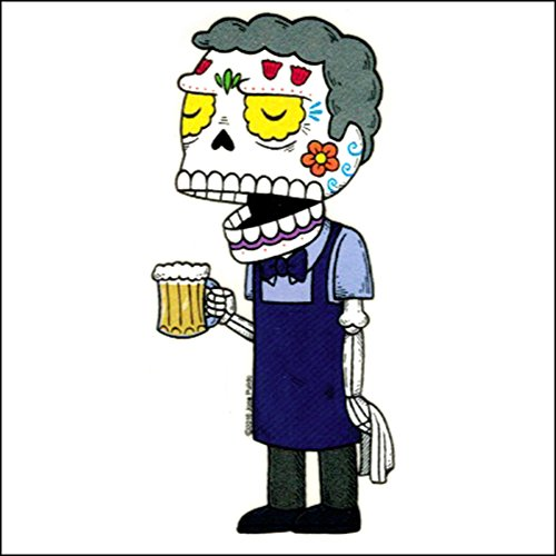 Moe the Bartender - Weather Proof Die Cut Vinyl Day of the Dead Sticker ()